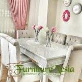 Furniture Cafe: Set Meja Makan Minimalis Modern 6 Kursi Jepara